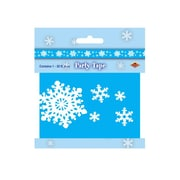 Beistle 3 x 20' Snowflake Party Tape, Light Blue, 5/Pack