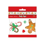 Beistle 3 x 20' Gingerbread Man Party Tape, White, 5/Pack