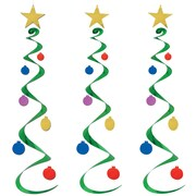 Beistle 30 Christmas Tree Whirls, 9/Pack