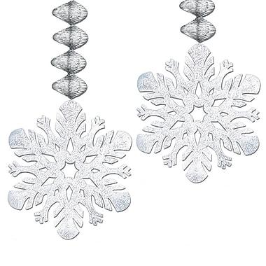 Flocons de neige métallisés à suspendre, 30 po, paquet de 8