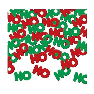 """""Beistle 1/2"""""""" Ho Ho Ho Fanci Confetti, Red/Green, 5/Pack"""""" 1066716"