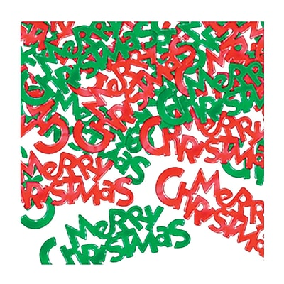 Beistle Merry Christmas Fanci Confetti, Red/Green, 5/Pack 1066715