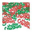Beistle Merry Christmas Fanci Confetti, Red/Green, 5/Pack