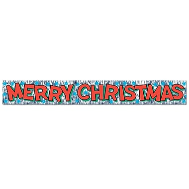 Metallic Merry Christmas Fringe Banner, 8