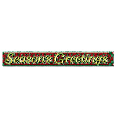 Metallic Season's Greetings Fringe Banner, 8