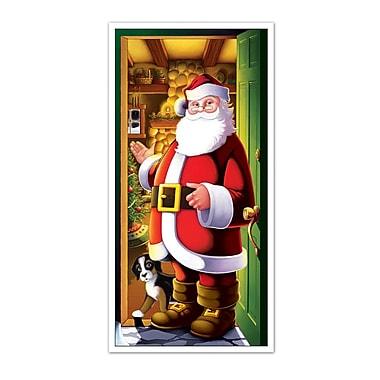 Décoration pour porte « père Noël », 30 po x 5 pi, paquet de 3
