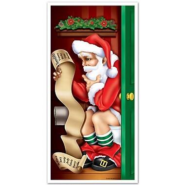 Santa Restroom Door Cover, 30