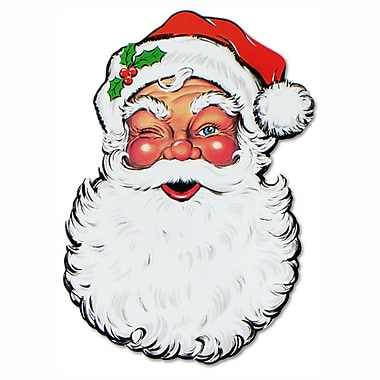 Display Santa Face Cutout, 26