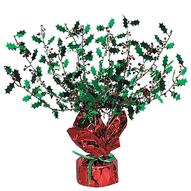 Holly & Berry Gleam 'N Burst Centerpiece, 15