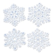 "Beistle 14"" Glittered Snowflake Cutouts, 8/Pack"