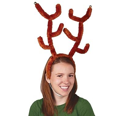Deluxe Reindeer Antlers with Bells, 2/Pack
