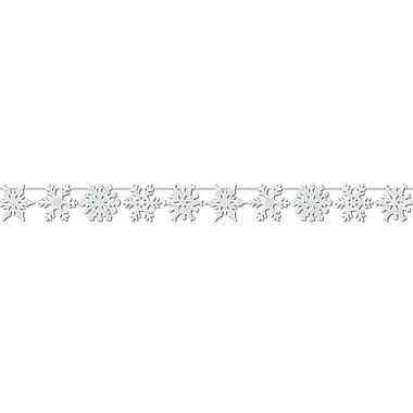 Guirlande de flocons de neige brillants, 8 1/2 po x 12 pi, paquet de 2