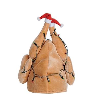 Plush Light-Up Christmas Turkey Hat
