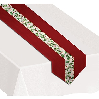 Christmas Holly Fabric Table Runner, 12