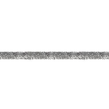 Guirlande décorative brillante ininflammable, 4 po x 100 pi, argenté