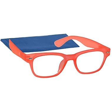 Peeperspecs® Highlighter Neon Orange Reading Glasses, +2.25