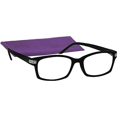 Peeperspecs® Style Max Black Reading Glasses, +2.50