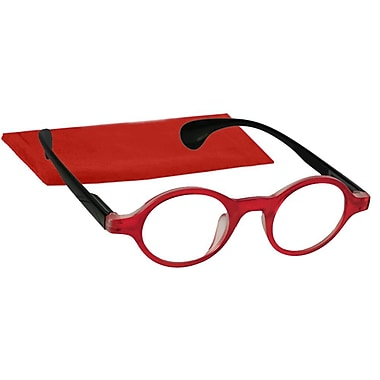 Peeperspecs® Dynasty Red/Black Reading Glasses, +2.25