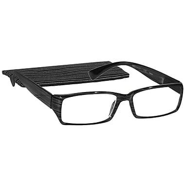 Peeperspecs® Urbane Grey/Black Reading Glasses
