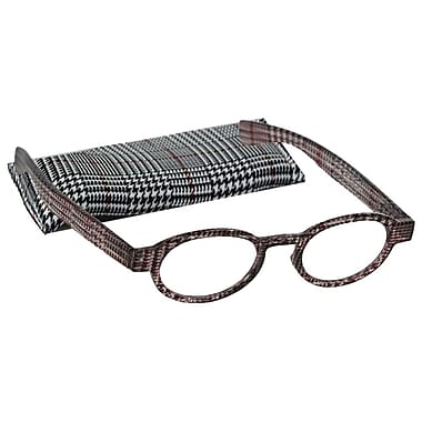 Peeperspecs® Houndstooth Black/Red Reading Glasses, +3.00