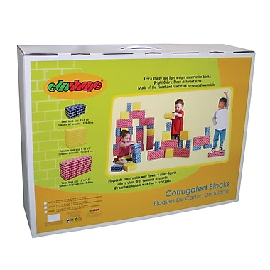 Edushape® Corrugated Blocks, 36/Pack