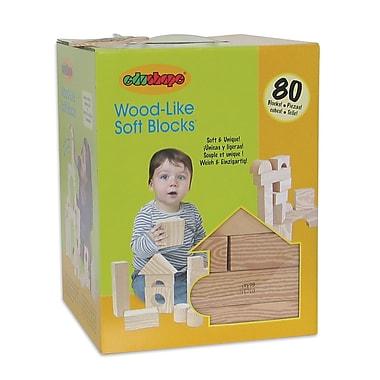Edushape® Wood-Like-Soft Blocks, 80/Pack
