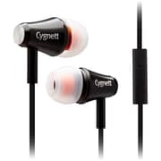 Cygnett Fusion II Earphone with Mic For iPod, iPad and MP3 Players, Black.