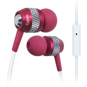 Cygnett Atomic II Earphone With Mic For iPod, iPad and MP3 Players, Pink/Silver