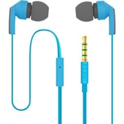 Incipio® F80 Hi-Fi Stereo Earbud Headset With Mic, Blue/Gray