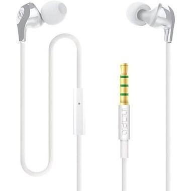 Incipio® F99 Hi-Fi Stereo Earbud Headset With Mic, White/Gray