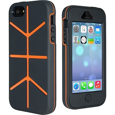 Cygnett Workmate Utility Super Protective Case For iPhone 5 + 5s, Grey/Orange