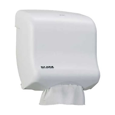 San Jamar T1750WH, 12in. x 12in. Plastic Ultrafold Multifold/C-Fold Towel Dispenser, White