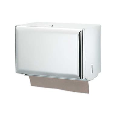 San Jamar T1800WH, 11in. x 8in. Steel Single-Fold Towel Dispenser