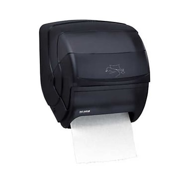 San Jamar T850TBK, 14in. x 12in. Plastic Integra Lever Roll Towel Dispenser, Black Pearl