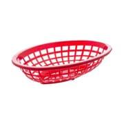 Tablecraft 1071R, 7-3/4 Oval Side Order Baskets, Red