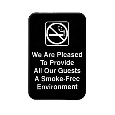 Thunder Group PLIS6901BK, 6in. x 9in. in.We Are Pleased To Provide...A Smoke-Free Environmentin. Sign