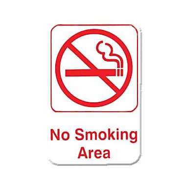 Thunder Group PLIS6905RD, 6in. x 9in. in.No Smoking Areain. Sign
