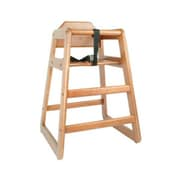Thunder Group WDTHHC019 Walnut Finish Rubberwood High Chair