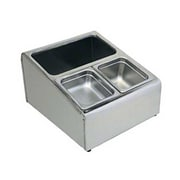 Update International CPH-4, Stainless Steel Condiment Holder with Rolled Edges