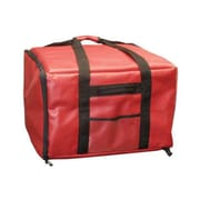 Update International PIB-2013 Nylon Pizza Delivery Bag, Black/Red