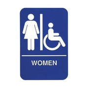 "Update International S69B-1BL, ""Women"" Accessible Braille Sign"
