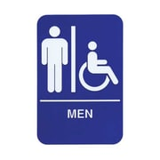 "Update International S69B-2BL, ""Men"" Accessible Braille Sign"