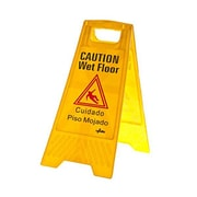 Update International WFS-25 Plastic Wet Floor Sign, Yellow