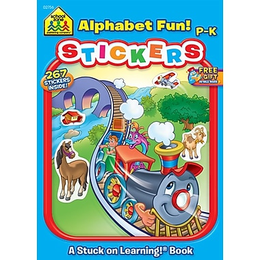 School Zone® Alphabet Fun Sticker Workbook, Grades Preschool-K