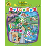 School Zone® Math Readiness Sticker Workbook, Grades Preschool-K