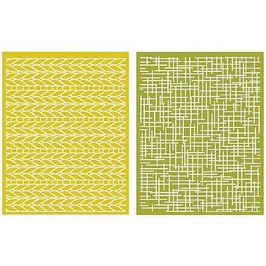 We R Memory Keepers™ Lifestyle Crafts Goosebumps A2 Embossing Folders, Woven