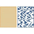 We R Memory Keepers™ Lifestyle Crafts Goosebumps A2 Embossing Folders, Chevron
