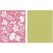 We R Memory Keepers™ Lifestyle Crafts Goosebumps A2 Embossing Folders, Wildflower