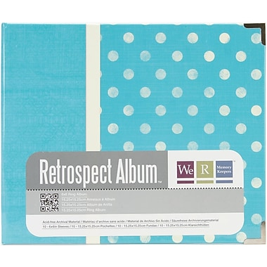 We R Memory Keepers™ Paper 3-Ring Printed Album, 6in. x 6in., Dots/Aqua