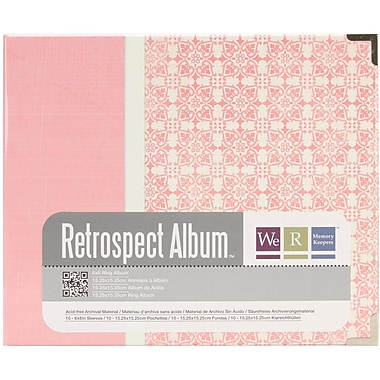 We R Memory Keepers™ Paper 3-Ring Printed Album, 6in. x 6in., Bloom/Pink